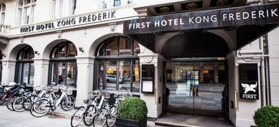 £54pp Based on 2 people per night | First Hotel Kong Frederik, Copenhagen, Denmark