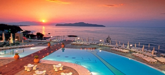 Relaxing all-inclusive Crete escape by the beach, Panorama Hotel, near Chania