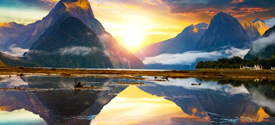 New Zealand self-drive trip with TranzAlpine train ride & fjord cruise, Christchurch, Franz Josef Glacier, Queenstown, Lake Tekapo & more