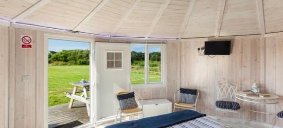 £50pp Based on 2 people per cabin per night   Coastal Cabins, Hartland, Devon