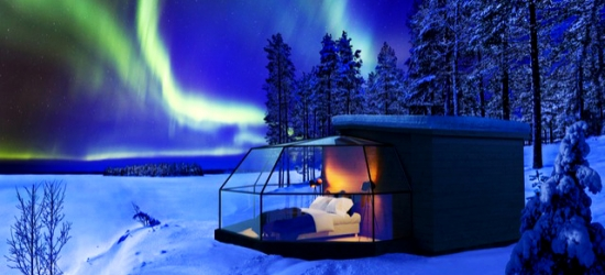 Unforgettable Lapland wildlife break with optional husky ride & igloo stay, Holiday Village Gulo Gulo & Arctic Fox Glass Igloos, Finland