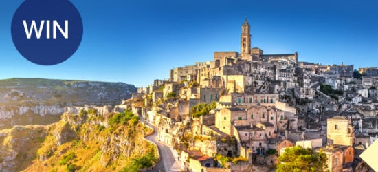 Win a trip for two to Matera in Southern Italy