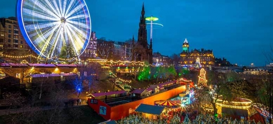 Xmas Shopping Edinburgh Stay, Afternoon Tea & Prosecco for 2