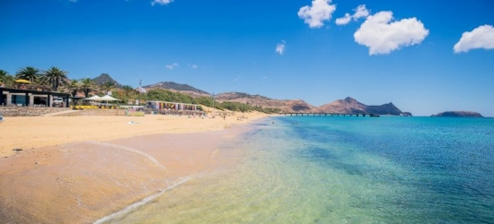Direct flights from London to the volcanic island of Porto Santo, Madeira
