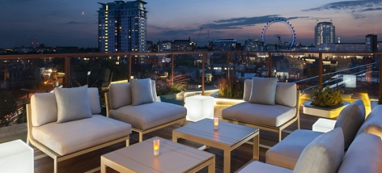 $ Based on 2 people per night | Stylish London hotel with a city-view sky bar, H10 London Waterloo, United Kingdom