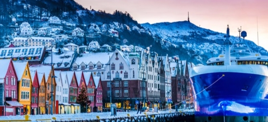 $ Based on 2 people per night | Harbourside hotel in charming Bergen, Clarion Collection Havnekontoret, Norway