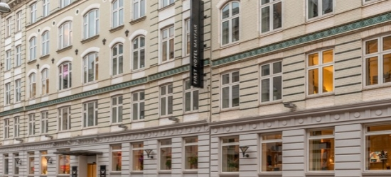 $ Based on 2 people per night | Boutique Copenhagen hotel with London-inspired interiors, First Hotel Mayfair, Denmark