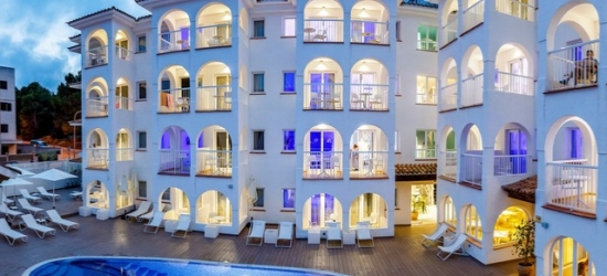$ Based on 2 people per night | Blissful Mallorca stay at an adults-only hotel, R2 Bahía Cala Ratjada Design Hotel, Spain