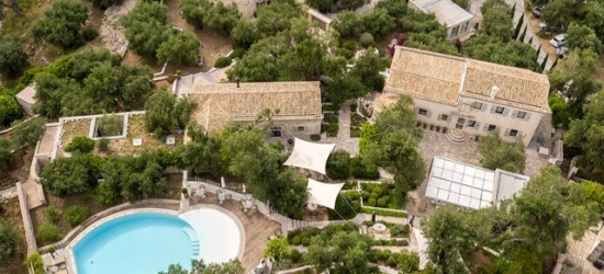 $ Based on 2 people per night | Sleek Paxos stay at a 17th-century Venetian manor, Torri e Merli Boutique Hotel, Greece