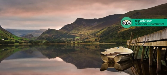 2-3nt Snowdonia Escape, 3-Course Dinner & Late Check Out for 2