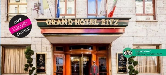 5* Romantic Rome Escape, Breakfast  @ Grand Ritz Hotel