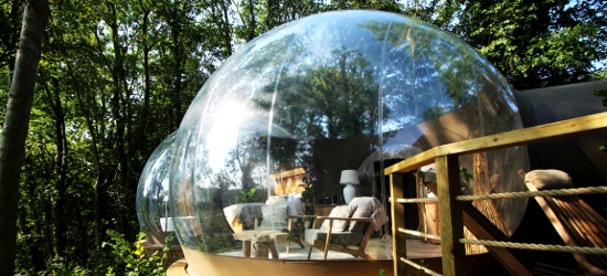 Sleep under the stars in The Bubble w/safari & golf buggy