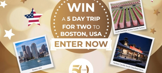 Win a five-day trip for two to Boston, USA