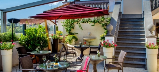 $ Based on 2 people per night   Panoramic Rome views from a central hotel, Hotel Savoy Rome, Italy