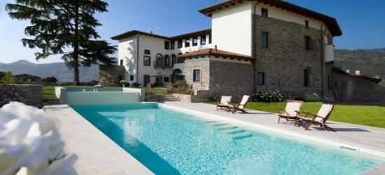 $ Based on 2 people per night | Boutique-style Italian farmhouse in Villongo, Podere Castel Merlo, Villongo, Italy