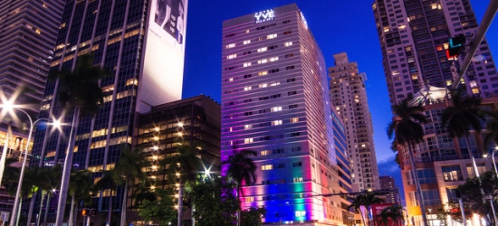 $ Based on 4 people per night | Chic Miami hotel overlooking Biscayne Bay, YVE Hotel Miami, Florida