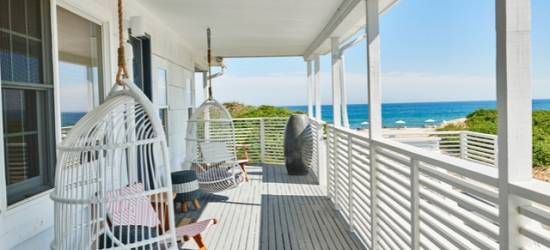 $ Based on 2 people per night | Laid-back Montauk hotel on Umbrella Beach, Hero Beach Club, New York