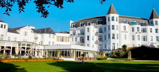 Bournemouth: 1 Night for Two with Breakfast and Option for Dinner and Wine at Royal Bath Hotel