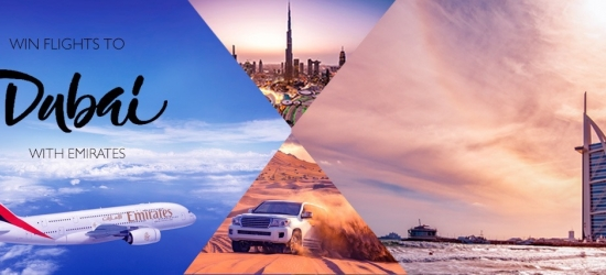 Win a pair of return flights to Dubai with Emirates