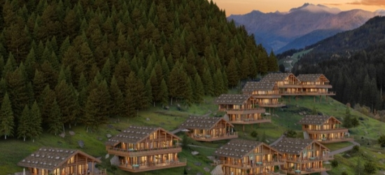 $ Based on 2 people per night | Scenic South Tyrol chalet-style spa hotel, Mons Silva Chalet, Italy