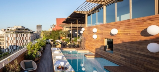 $ Based on 2 people per night | Stylish central Barcelona gem with a rooftop pool, Sir Victor Hotel, Spain