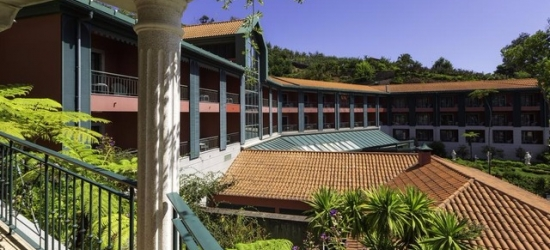 $ Based on 2 people per night | Lush garden hotel tucked in the village of Monte, Hotel Quinta do Monte, Portugal