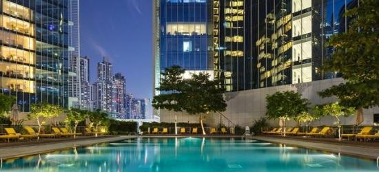$ Based on 2 people per night | Luxurious 5* Dubai hotel with fabulous Burj Khalifa views, The Oberoi Dubai, UAE