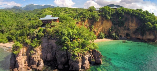 $ Based on 2 people per villa per night | Luxury 5* Dominica boutique resort, Secret Bay, Caribbean