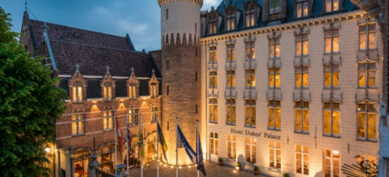 $ Based on 2 people per night | 5* Bruges stay with a spa & salt wall, Hotel Dukes' Palace Brugge, Belgium