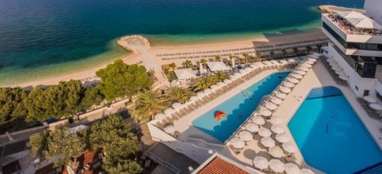 Based on 2 people per night | Fashionable Makarska Riviera beachfront resort, Medora Auri Family Beach Resort, Podgora, Croatia