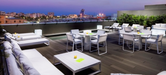 Based on 2 people per night | Modern Barcelona boutique with a rooftop bar, H10 Port Vell, Spain