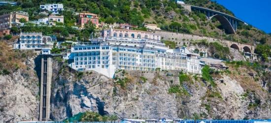Based on 2 people per night | Cliffside Italian digs overlooking the Tyrrhenian Sea, Lloyd's Baia Hotel, Amalfi Coast
