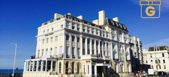 Brighton: 1-Night Stay for Two with Breakfast and Option for Dinner and Wine at Royal Albion Hotel