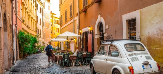 4* Rome City Escape, Vintage Fiat 500 City Driving Tour
