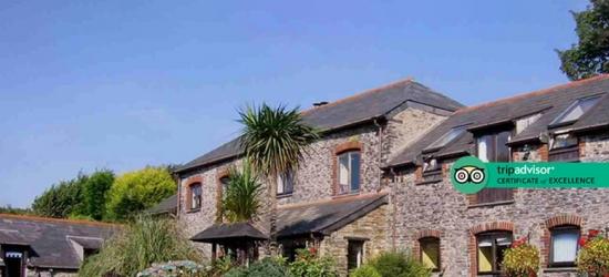 4* Charming Cornwall Break, Prosecco & Breakfast for 2 @ Penvith Barns Hotel