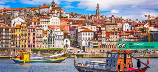 4* Porto Stay with City Train Tour, River Cruise & Wine Cellar Trip