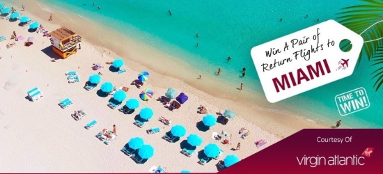 Win a pair of return flights to Miami