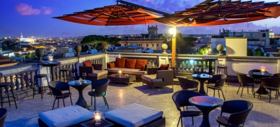$ Based on 2 people per night | Charming Rome hotel with panoramic city views, Hotel Savoy Rome, Italy