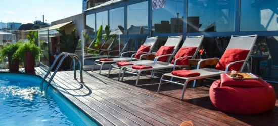 $ Based on 2 people per night | Contemporary Barcelona pad with a rooftop pool, Barcelona, Spain
