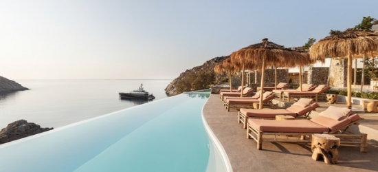 $ Based on 2 people per night | Mykonos beach hotel with stunning interiors, The Wild Hotel by Interni, Mykonos, Greece