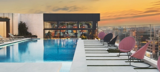 $ Based on 2 people per night | Modern Athens pad with a rooftop pool, Grand Hyatt Athens, Greece
