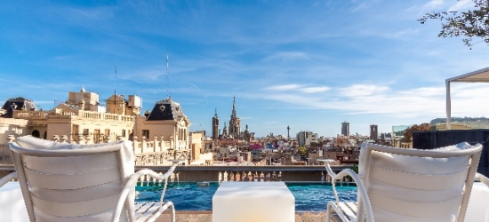 $ Based on 2 people per night | 5* Barcelona design hotel with Michelin-star dining, Ohla Barcelona, Spain
