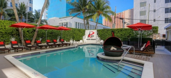 Based on 2 people per night   Hip Collins Avenue hotel a block from the beach, Red South Beach Hotel, Florida