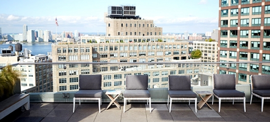 $ Based on 2 people per night | Stylish Manhattan boutique hotel with rooftop lounge, The James New York – SoHo, New York