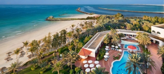 $ Based on 2 people per night | Ajman five-star on a private Persian Gulf beach, Kempinski Hotel Ajman, UAE