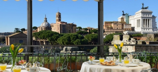 $ Based on 2 people per night | Elegant Rome hotel near the magnificent Colosseum, Hotel Forum, Italy