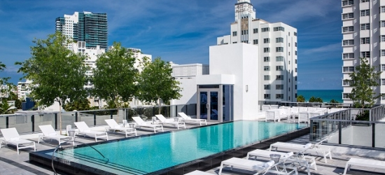 $ Based on 2 people per night | Sleek SoBe stay at a 1940s Art Deco icon, Gale South Beach, Curio Collection by Hilton, Florida