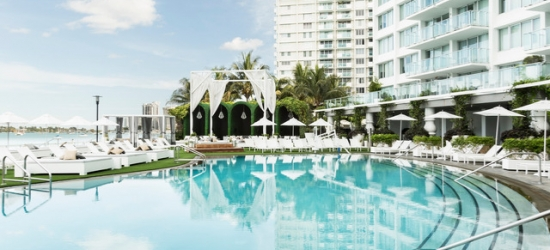 $ Based on 2 people per studio per night | Sleek South Beach design-led spa hotel, Mondrian South Beach, Florida