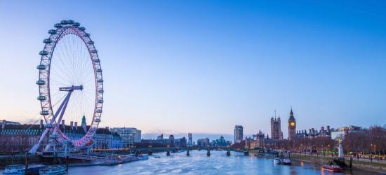 1-2nt 3* or 4* London Break, Breakfast & Entry to Coca Cola London Eye
