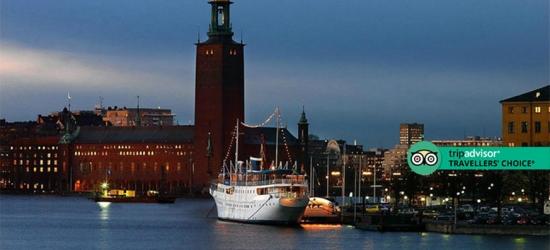 Stockholm Yacht Hotel Break, B'fast  - Award-Winning Hotel!